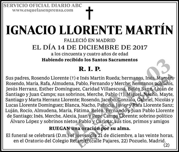 Ignacio Llorente Martín
